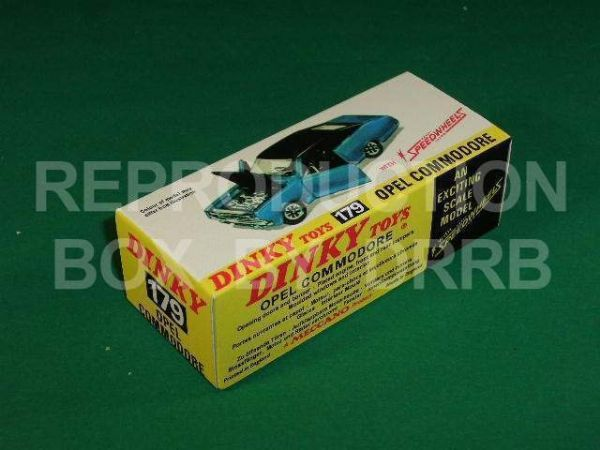 Dinky #179 Opel Commodore - Reproduction Box